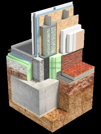 1.0.1-Detaliu de fundatie – planseu din beton