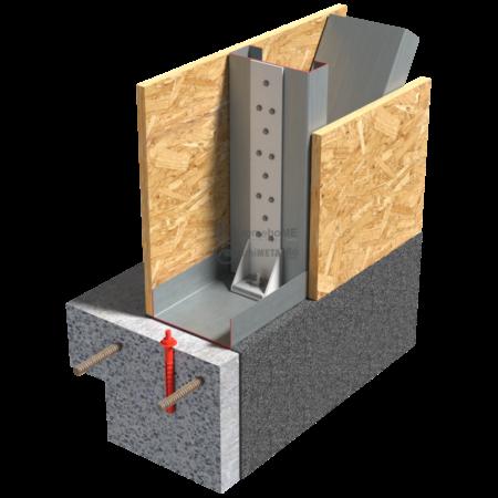 1.1.1 – Detaliu de fixare in fundatie cu coltar pentru forte taietoare