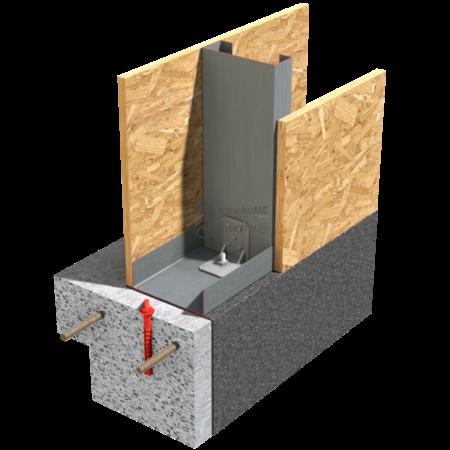 1.1.2 – Detaliu de fixare in fundatie cu coltar
