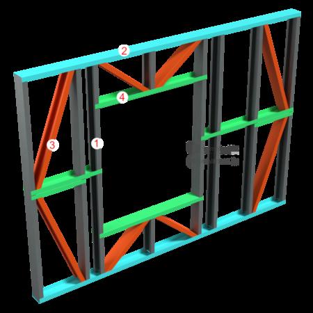 2.0.1 – Modul perete structural cu gol tamplarie – alcatuire