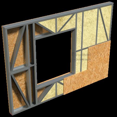 2.0.3-Perete cu vata de sticla – OSB optional la interior