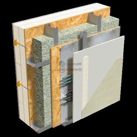 2.2.1-Detaliu perete structural-folie AV reflectanta -cu spatiu pt instalatii