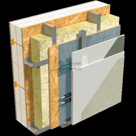 2.2.2-Detaliu perete structural-cu spatiu pt instalatii si membrana acustica