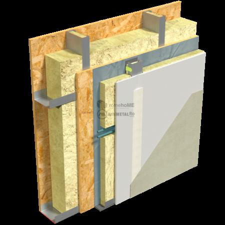 2.2.4-Detaliu perete structural-cu spatiu pt instalatii si placare gips-carton pe bride