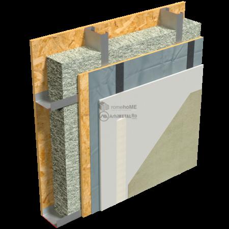 2.2.5-Detaliu perete structural-placare cu gips-carton pe OSB