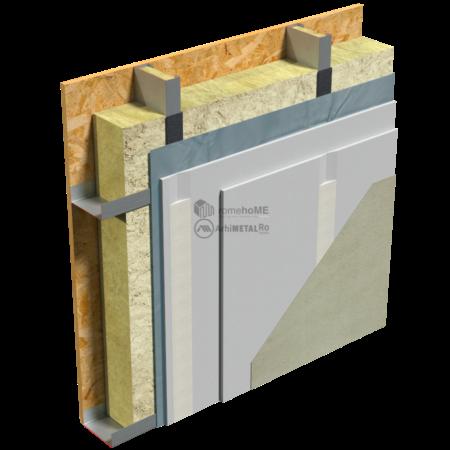 2.2.8-Detaliu de perete- placare cu gips-carton pe structura frame
