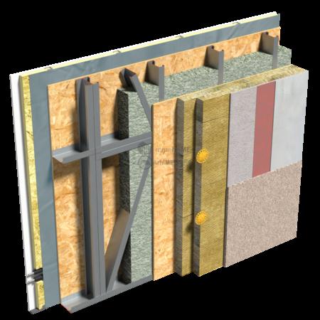 2.3.2 – Detaliu de fatada – termosistem cu vata bazaltica