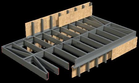 4.0.0 – Planseu structura metalica usoara – alcatuire de principiu