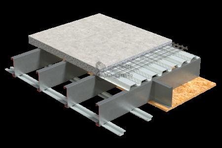 4.1.1 – Detaliu placare planseu cu tabla cutata si beton