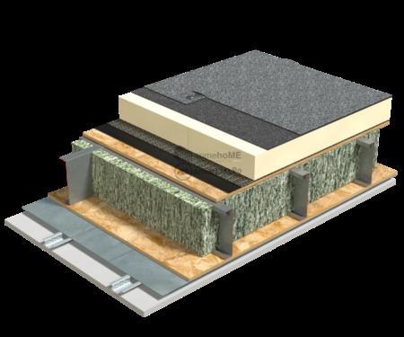 5.1.3 – Detaliu terasa – OSB – termoizolatie PIR necirculabila – membrana bituminoasa