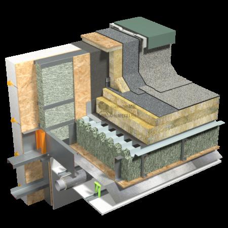 5.3.1 – Terasa – detaliu de atic – casa eficienta energetic
