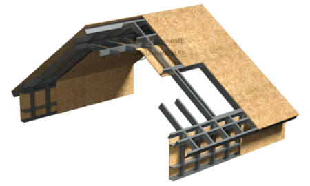6.0.0 – Acoperis cu panta – dispunere structura
