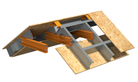 6.1.0 – Acoperis cu panta – detaliu de coma – dispunere structura