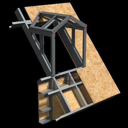 6.4.0 – Acoperis cu panta – detaliu de lucarna – dispunere structura