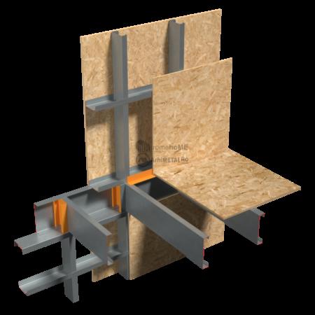 8.4.1 – Planseu – racord cu intreruperea peretilor de fatada – montaj tip platforma