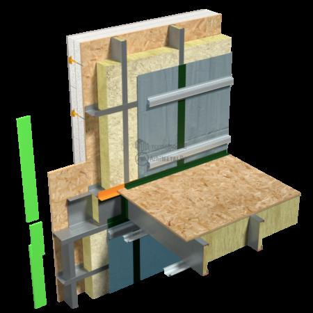 8.6.2 – Planseu – etansare la vapori – folia AV intrerupta la nivelul planseului
