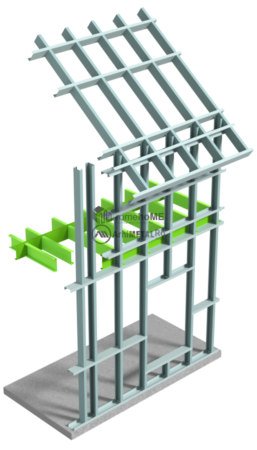 Constructie frame cu peretii continui